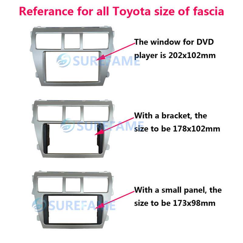 Pi/èces de voiture Car Radio For Toyota Corolla Spacio 2001-2007 Size : 178x102mm Corolla Verso 2001-2004 Fascia Dash Kit Panneau Bezel Garniture Adaptateur De Plaque