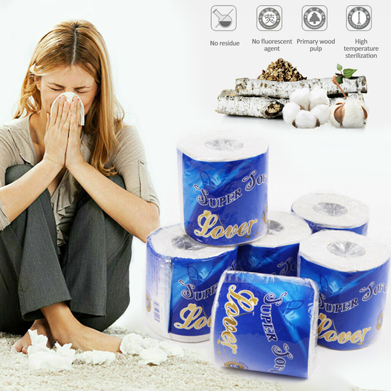 10 Rolls Strong Soft 3-Ply Toilet Paper Bath Tissue Skin-friendly For Bathroom Home New IK88