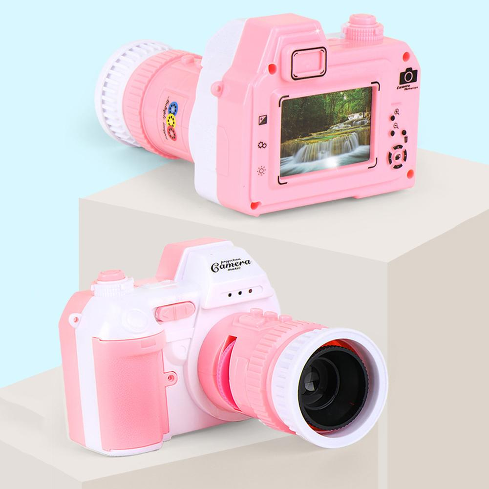 Simulation Camera Light Projection With LED Sound Kids Educational Toys For Children Birthday Girls Gifts