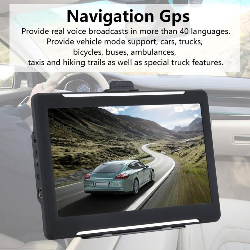 T600 7 pulgadas camión coche navegador Universal navegación Gps cámara de alta velocidad 256Mb + 8Gb coche navegador Gps Quad core Android 8,1 para HYUNDAI IX45 SantaFe 2013, 2014, 2015, 2016, 2017 Multimedia estéreo reproductor de DVD del coche de navegación GPS Radio
