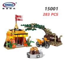 XINGBAO 15001 283PCS Forest Adventure Series Jungle Survival Scene Set Building Blocks Primitive Bricks With Motorbike