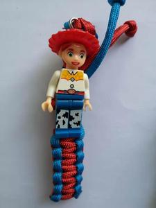Image 2 - 63pcs Charm Paracord Survival Rope Bracelet Building Blocks Bricks Bracelet Christmas gift For Kids Couples