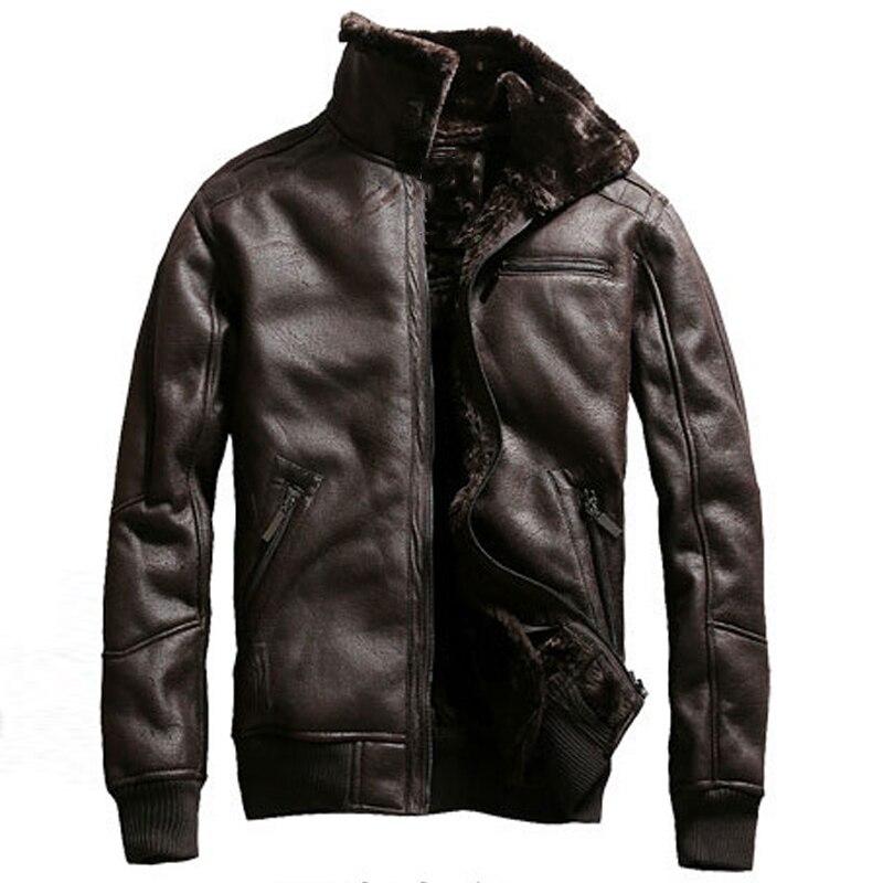 2020 Russian Winter Mens Faux Fur Jacket Coats Air Force Mens Fur Coats American Style Velvet Overcoats Brand Mans Clothing A913