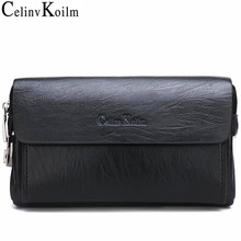 Celinv Koilm Luxury Brand  Mens Handbag Day Clutches Bags For Phone and Pen High Quality Spilt Leather Wallets Hand bag Male