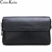 Celinv Koilm יוקרה מותג גברים של תיק ציפורני יום שקיות עבור טלפון ועט גבוהה באיכות נשפך עור ארנקים יד תיק זכר