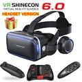Originele VR Shinecon 6.0 Headset Versie Virtual Reality Bril 3D Bril Headset Helmen Smartphone Volledige Pakket  Controller