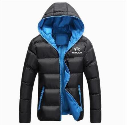 COAT JACKET MOTORS Hooded Warm Men Winter Mens Outwear Cotton Zipper Couple Sporty KIA title=