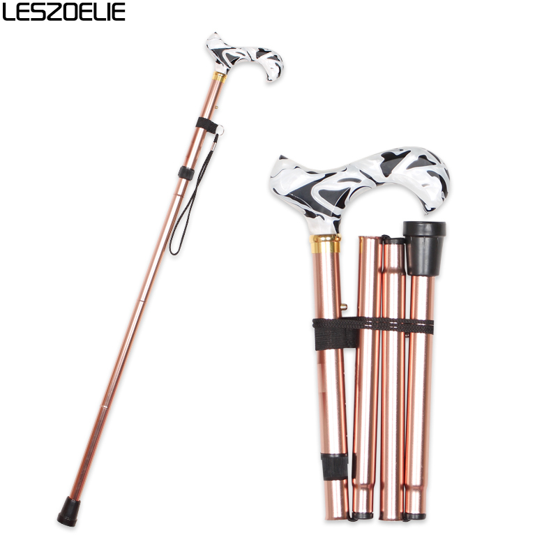 Adjustable Walking Stick Canes Men Luxury Fashion Decorative Cane Women Brown Walking Stick Aluminum Alloy Folding Walking Cane