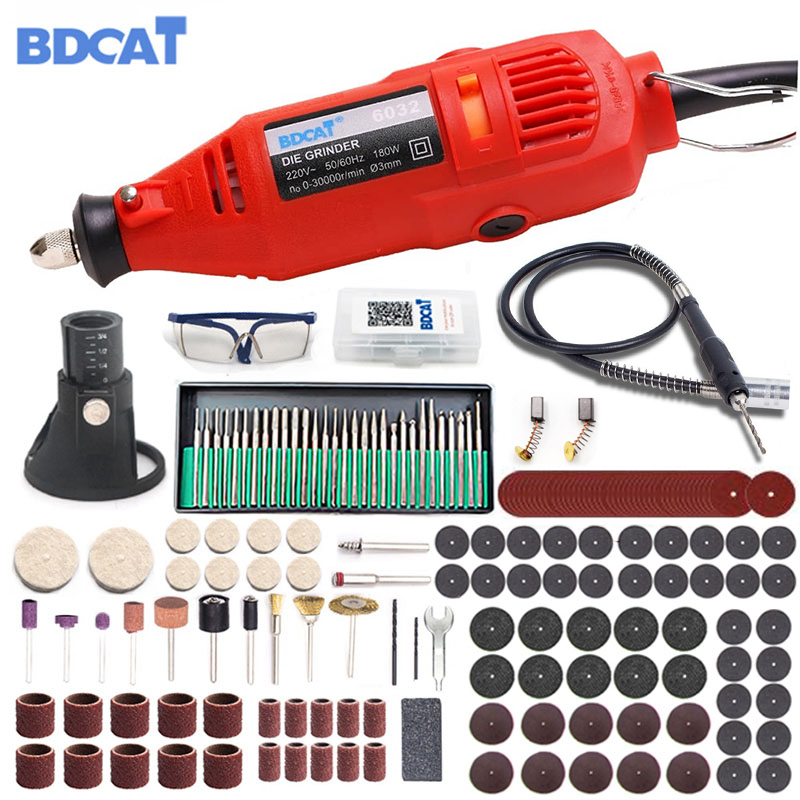 Variable Speed Electric Mini Drill Grinding Engraving Machine Dremel Style Engraver Power Tools With Rotary Tool Set Accessories
