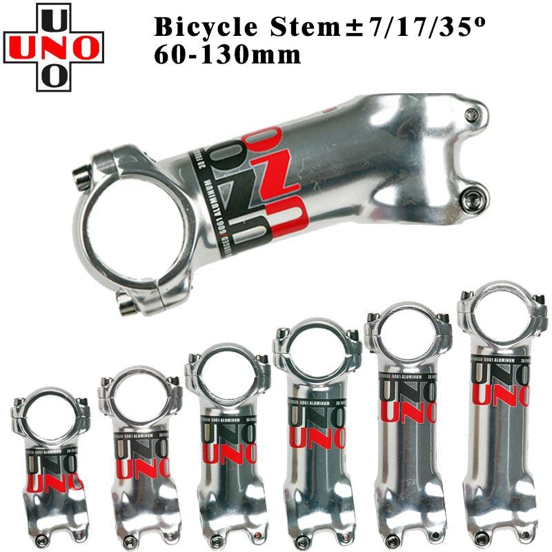 "Aluminium Mountain MTB road bike UNO Stems ±35°90//110mm stem 1-1//8/"" stem silver"