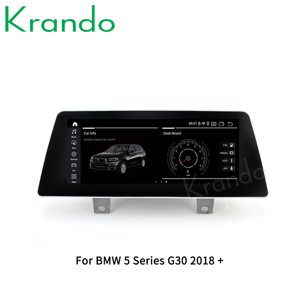 Krando Android 10.0 4G 64G 10.25'' Car GPS Audio For BMW 5 Series G30 EVO GT F07 CIC NBT 2009-2020 Multimedia Radio Player WIFI image