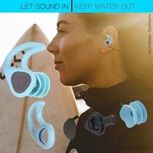 Natação plugues de ouvido macio silicone som impermeável earplugues mergulho água surf swim toque à prova água da orelha botões