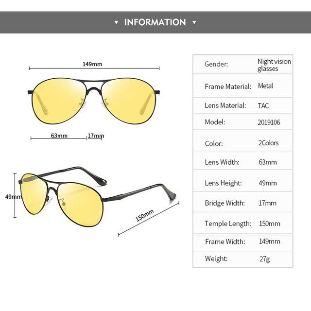 Classic Retro Designer Nighttime Driving Glasses for Women Men Aviation Polarized Night Driving Sunglasses Goggles UV400 5