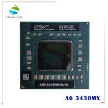 AMD A6 3400M سلسلة A6 3430MX A6 3430mx AM3430HLX43GX وحدة المعالجة المركزية APU مع راديون HD 6520G الرسومات معالج رباعي النواة A6 Series