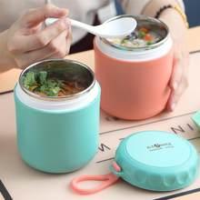 Przenośny termos pudełko na Lunch 304 pojemnik ze stali nierdzewnej izolacja żywności kubek na zupę dzieci termos zamknięte szczelne pudełko na Lunch