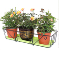 Железная художественная подвесная стойка для цветов  прямоугольная рама для цветочных горшков  Балконная стойка для выращивания овощей и ц...