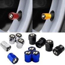 Para hyundai tucson solaris ix35 tucson mistra verna durável tampa da haste válvula de ar do carro metal automóvel pneu acessórios capa