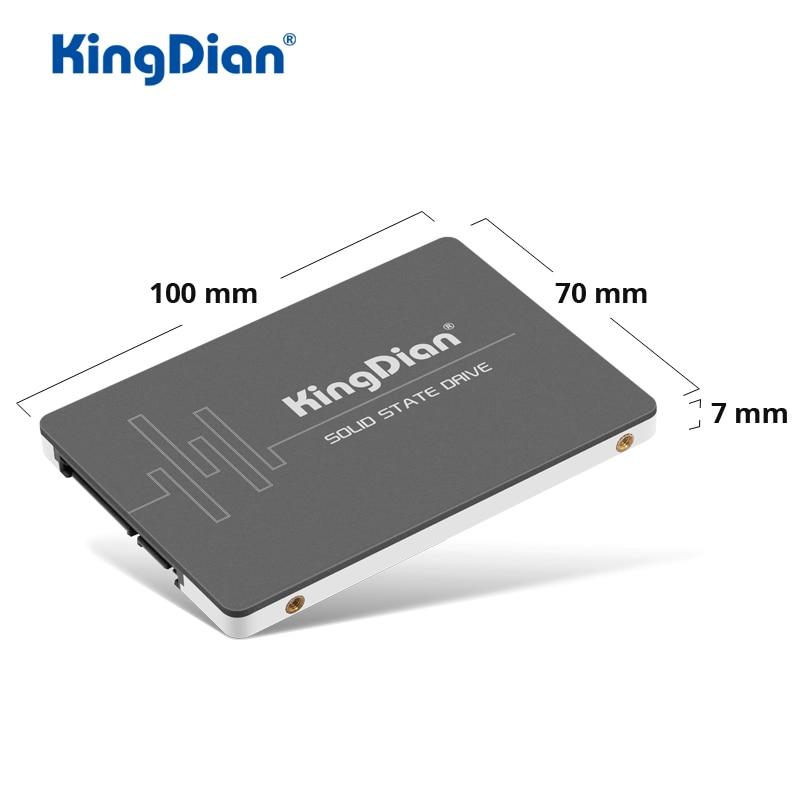 KingDian SSD 120GB 240GB 480GB 1 to 2 to SSD SATA 2.5 HDD 512GB disque dur SATAIII disques statiques internes pour ordinateur portable Destop