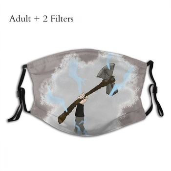 God of War Action-adventure Game Adulte Mask Stormbreaker Fashion Mascarilla With Filters image