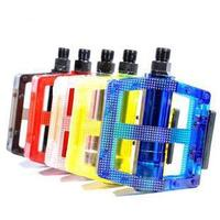 Fixed Gear Bike Plastic Pedal Mountain Bike PC Pedal Jelly Color on/Transparent Plastic Pedal|  -