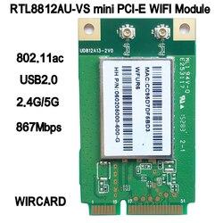 RTL8812AU-VS WFUR6 1200Mbps ثنائي النطاق 2.4GHz + 5GHz لاسلكي-n 802.11AC USB بطاقة واي فاي