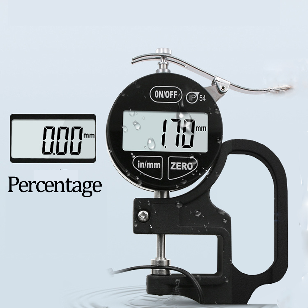 Portable IP54 Digital Electronic Thickness Gauge 0.01mm High Precision Oilproof Digital Display Measuring Instrument