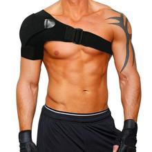 Regulowane lewe i prawe ramię Brace elastyczne do ćwiczeń ściągacz sportowy pasek Wrap ortopedyczna torebka chłodząca szelki na ramię tanie tanio Rablont CN (pochodzenie) Dla osób dorosłych shoulder sleeve -1 Ice pack shoulder brace for left shoulder and right shoudler