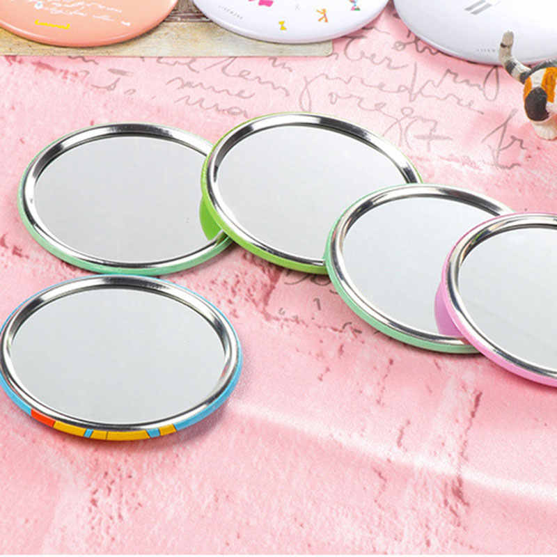 1pc 7cm Portable Mini Mirrors Pocket Makeup Mirror Normal Cosmetic Compact Mirrors for Woman Lady Dropshipping @
