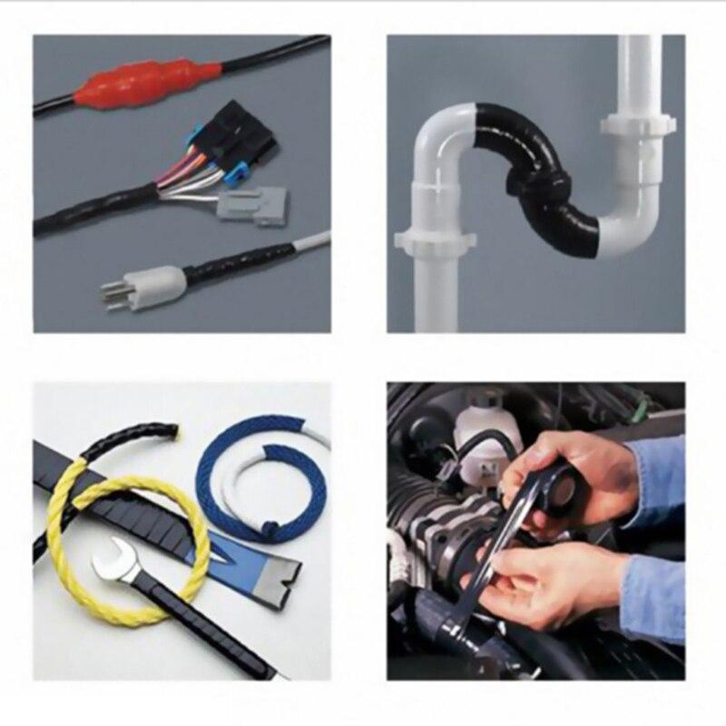 1 X Bonding Tapes Black Rubberized Sealant Repair Waterproof Rescue Industrial