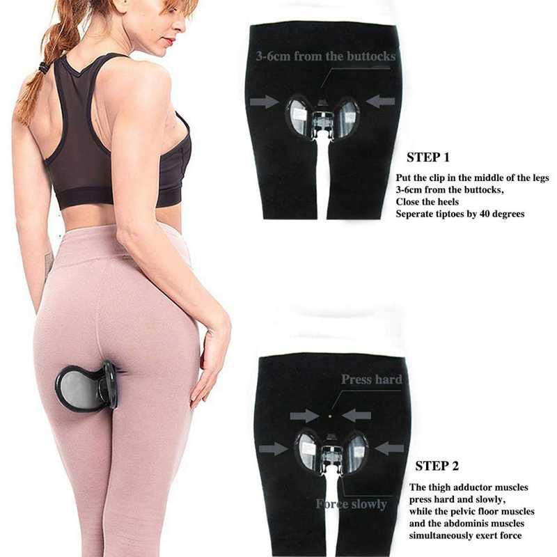 Hip Trainer pélvico suelo músculo interior muslo ejercitador caderas músculo Trainer Fitness nalgas equipo de belleza negro