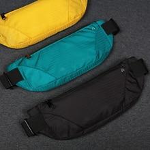 Colorful Waist Bag Waterproof Waist Bum Bag Running Jogging Belt Pouch Zip Fanny Pack Sport Runner Crossbody Bags Men And Women