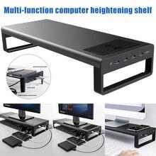 Neue Thermische Ladegerät PC Desktop Laptop Smart Basis Aluminium Computer Laptop Basis zu Erhöhen die Höhe von Computer oder PC monitor
