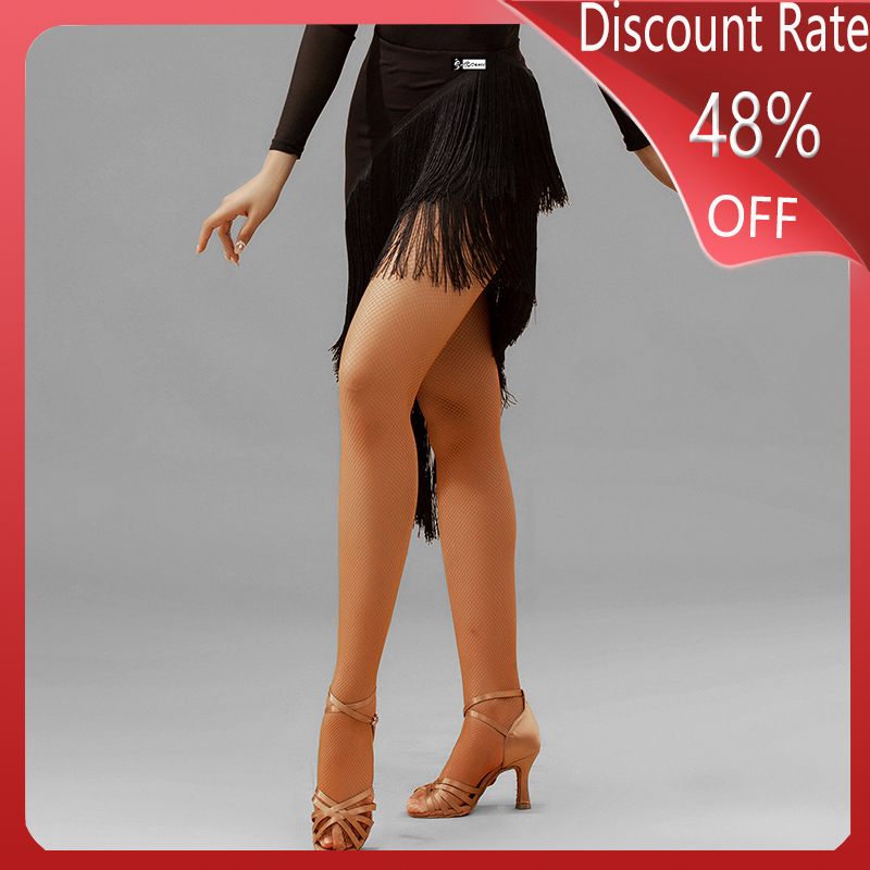 Latin Dance Skirt Women New Tassel Skirt Adult Practice Clothes Latin Dance Dress Women Robe Danse Competition Costumes DQS3677