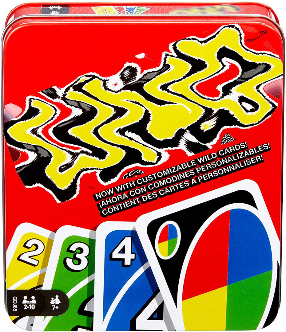 Mattel Games UNO:Classic (Tin Box) Puzzle Games 108 Cards Family Funny Entertainment Board Game Fun Poker Playing Cards Gift
