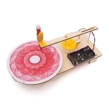 Diy produção elétrica plotter kit experimento físico educacional criança brinquedo presente crianças ciência tecnologia brinquedos
