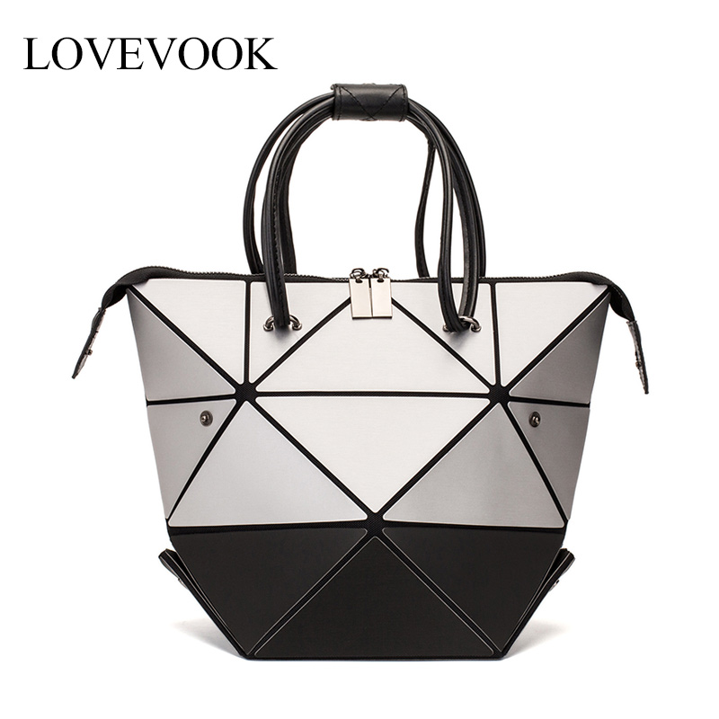 LOVEVOOK Women Handbags Luxury Shoulder Bags Designer 2019 Foldable Totes With Top-handle Female Various Shapes Geometric Bags