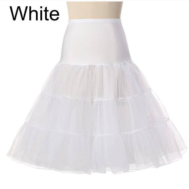 Free Short Organza 2020 Petticoat Crinoline Vintage Wedding Bridal Petticoat For Wedding Dresses Underskirt Rockabilly Tutu