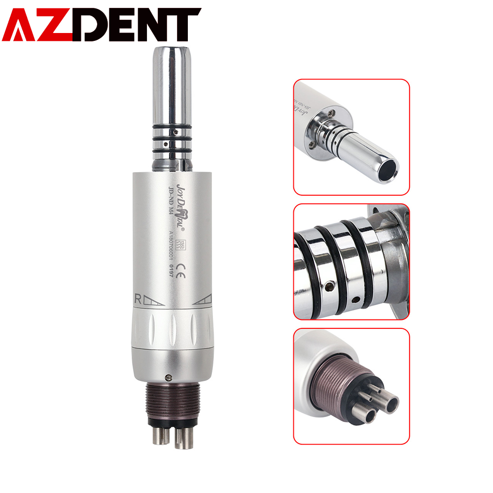 Dental Inner Water Air Motor Low Speed Handpiece 4 Hole E-type 1:1 Ratio With Internal Water Cooling System
