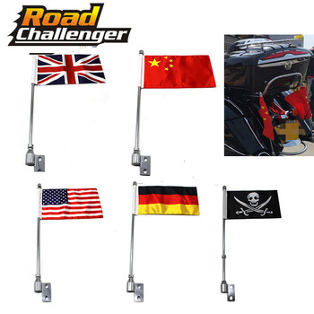 Motorcycle Mount Flag Pole For Indian chief vintage For Luggage Rack Rear Side Mount