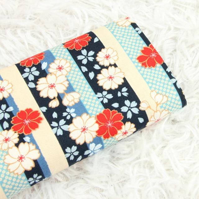 Tissu en pur coton épais demi-Yard, tissu imprimé à la brise japonais, sac à main bricolage pochette dorée, collection CR-A1