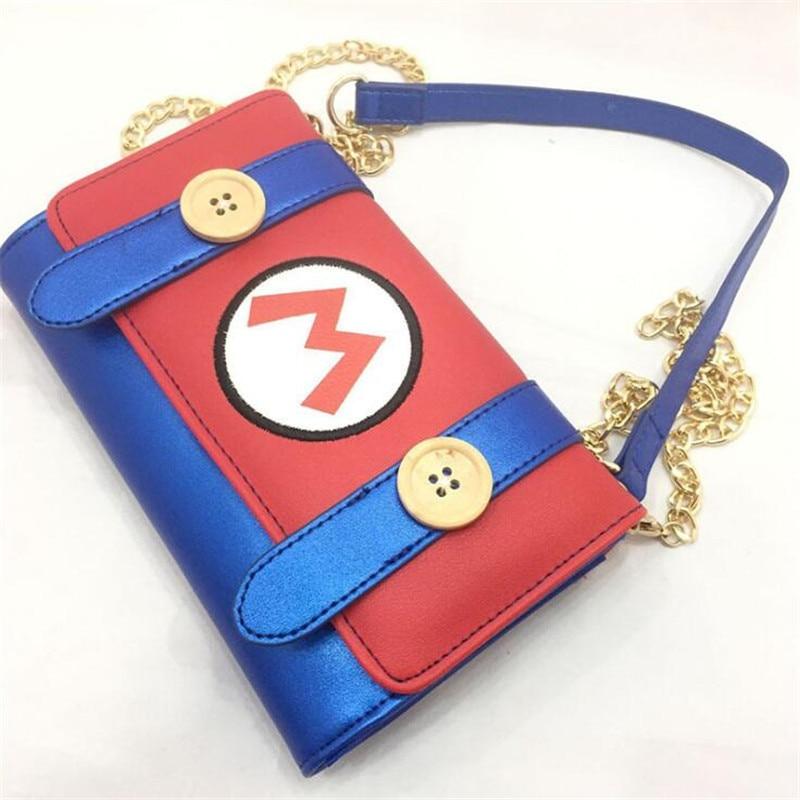 Hot New Game Super Mario  Shoulder Bag Cosplay Messenger Bag Handbag Women Fashion Chain Bag Wallet