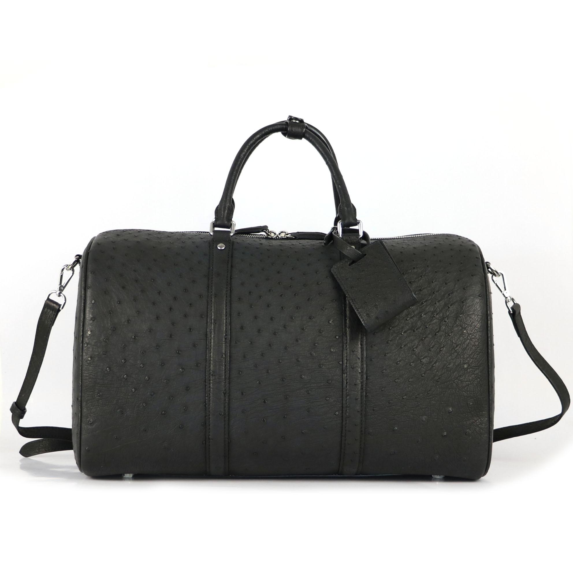 Бесплатная Индивидуальная сумка для путешествий 100% натуральная Страусиная кожаная сумка для багажа большая сумка для фитнеса мужские роскошные сумки через плечо|Сумки с ручками| | АлиЭкспресс