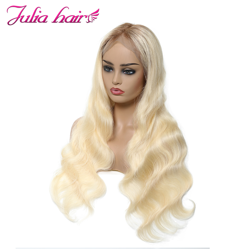 Human-Hair-Wigs Julia Lace-Front Brazilian Ali 360 Transparent Body-Wave Remy -T4/613