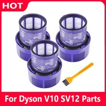 Washable HEPA Filter Spare Parts Unit for Dyson V10 SV12 Cyclone Animal Absolute Total Clean Vacuum Cleaner Filters Accessories