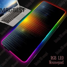 MRGBEST Abstract Gaming RGB Large Gamer Lockedge Mouse Mat Computer Mousepad Led Backlight XXL Pc Keyboard Desk 40x90/30x80
