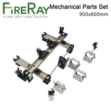 Mechanical Parts Set 900x600mm Single Head Laser Kits Spare Parts for DIY CO2 Laser 9060 CO2 Laser Engraving Cutting Machine цена 2017