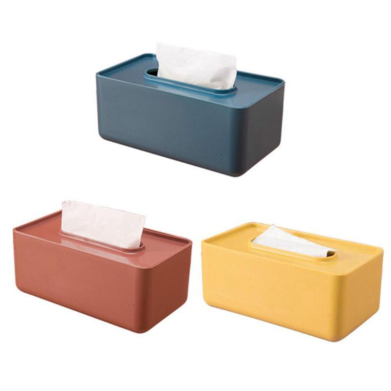 Nordic Style Plastic Tissue Box Paper Towel Tissue Case Holder Table Organ RAS