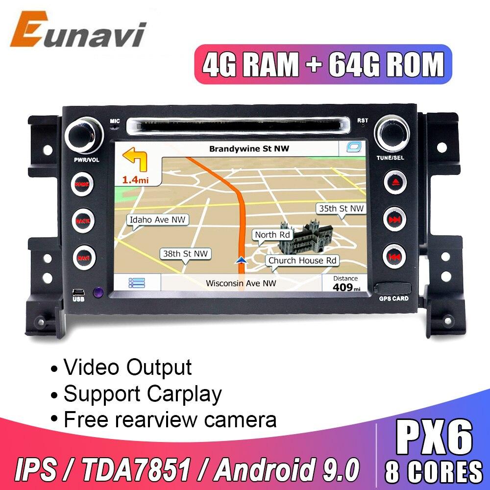 Eunavi 2 DIN Android auto-multimedia-player für Suzuki Grand Vitara 2005-2012 auto radio dvd 2din Stereo GPS video navigation IPS