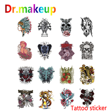 New Fashion Tattoo Sticker Unisex Waterproof Temporary Eagle Rose Ghost Dark Series Body Art Fake Tatoos Chains Women Men