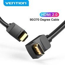 Vention 4 hdmi 2.0 ケーブル 90/270 hdmi度の角度ケーブルapple tv用ボックスPS4 hdmiスプリッタスイッチャービデオオーディオケーブルhdmi 2.0